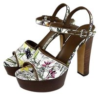 Gucci Danielle Floral Canvas Multi-Color Platforms