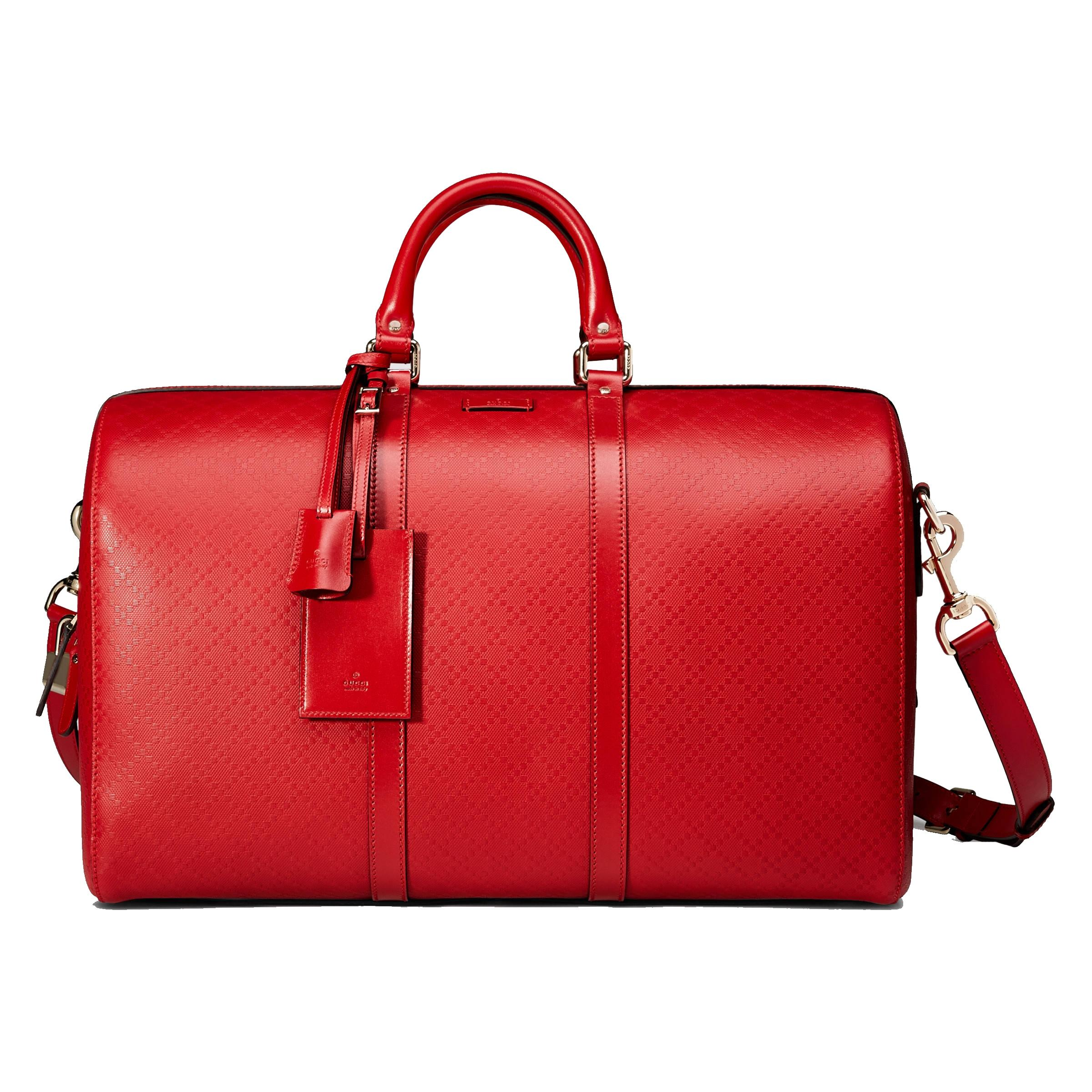 Gucci Diamante Hilary Lux Leather Duffle 355639 Tabasco Red Travel ...