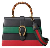 Gucci Dionysus African Tote Satchel in Red/Black/Green