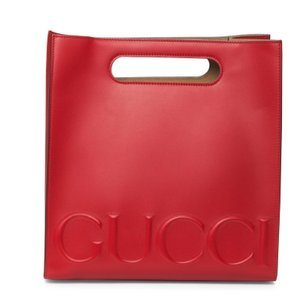 Gucci Embossed Tote in Red