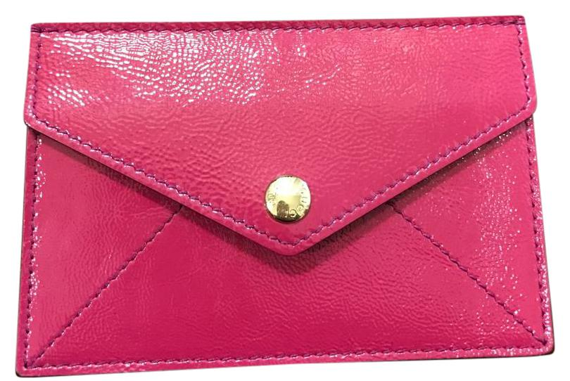 Gucci Fushia Patent Leather Card Holder