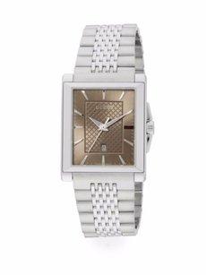 Gucci G - Timeless Collection Stainless Steel Rectangle Watch