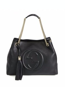 Gucci Gg Soho Leather Shoulder Bag