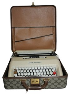Gucci GGSL40 Gucci Typewriter Set Brown Monogram Hard Type writer Case