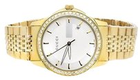 Gucci Gucci 101 G-timeless Yellow Gold Dial Mm Swiss Diamond Watch Ya126409 Ct