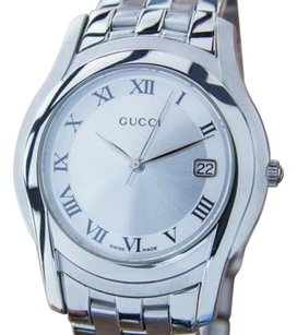 Gucci Gucci 5500m Stainless Steel Quartz Movement 2000 Mens Dress Formal Nr6