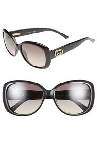 Gucci Gucci 56mm Swarovski Crystal Sunglasses