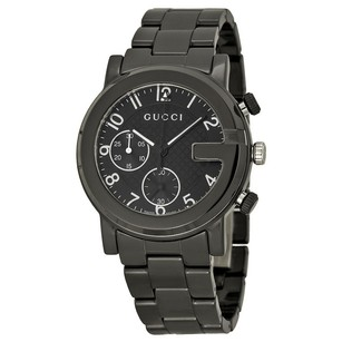 Gucci Gucci Black Dial Black Ceramic Mens Watch