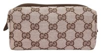 Gucci Gucci Costmetic Pouch (Tan/Brown)