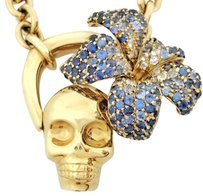 Gucci Gucci Flora Collection Gold Skull and Flower Necklace