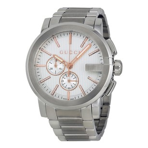 Gucci Gucci G-Chrono Silver Dial Stainless Steel Mens Watch
