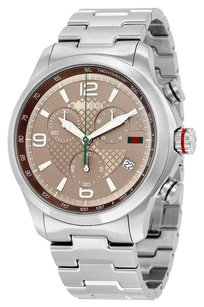 Gucci GUCCI G-Timeless Chronograph Brown Dial Stainless Steel Men's Watch