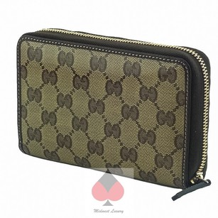 Gucci Gucci GG Guccissima Crystal Coated Canvas Zip Around Wallet