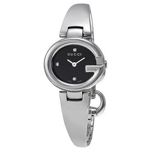 Gucci Gucci Guccissima Black Dial Stainless Steel Ladies Watch