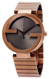 Gucci GUCCI Interlocking XL Brown Dial PVD Stainless Steel Men's Watch YA133211