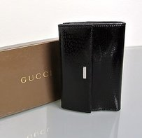 Gucci Gucci Patent Leather Wallet Wcoin Purse In Box 143388