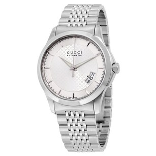 Gucci Gucci Silver Dial Stainless Steel Automatic Mens Watch