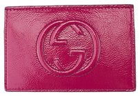 Gucci Gucci Soho Soft Patent Leather Document Flat Pink Envelope Case Bag