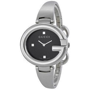 Gucci Gucci Ssima Black Dial Stainless Steel Ladies Watch