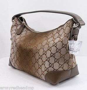 Gucci Heartbit Charm Bronze Hobo Bag