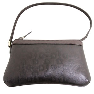 Gucci Horsebit Leather Brown Clutch