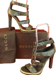 Gucci Khaki Military Sandals