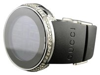 Gucci Ladies Ya114401 I Gucci Digital Genuine Diamond Watch Two Timezone