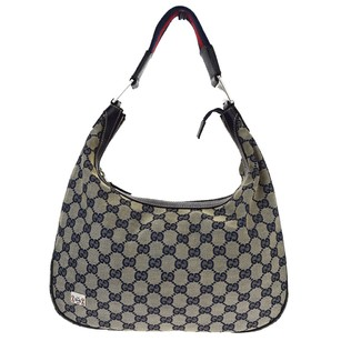 Gucci Leather Canvas Shoulder Bag