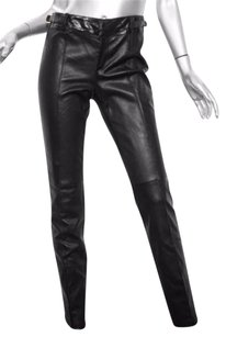 Gucci Womens Classic Leather Pintuck Skinny 426 Pants