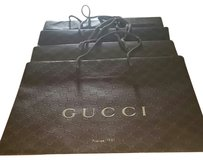 Gucci Lots of 5 Gucci Brown Shopping Tote Gift bags