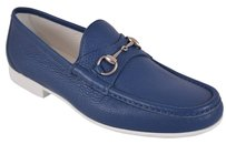 Gucci Men's Loafers Blue Flats