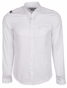 Gucci Men's Shirt Military Men's Shirt Military Shirt Button Down Shirt White