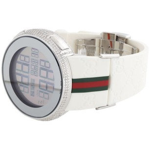 Gucci Mens Diamond Gucci Watch I Gucci Digital White Band Ya114214 Ct.