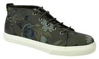 Gucci Mens Floral Fabric Green Boots