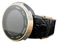 Gucci Mens I Gucci Digital Latin Grammy Rose Gold Diamond Watch Ct Ya114102