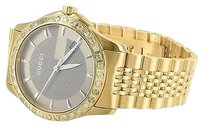 Gucci Mens Ya126130 Timeless Gucci 2.25 Ct Diamond Date Display Yellow Gold Tone Watch