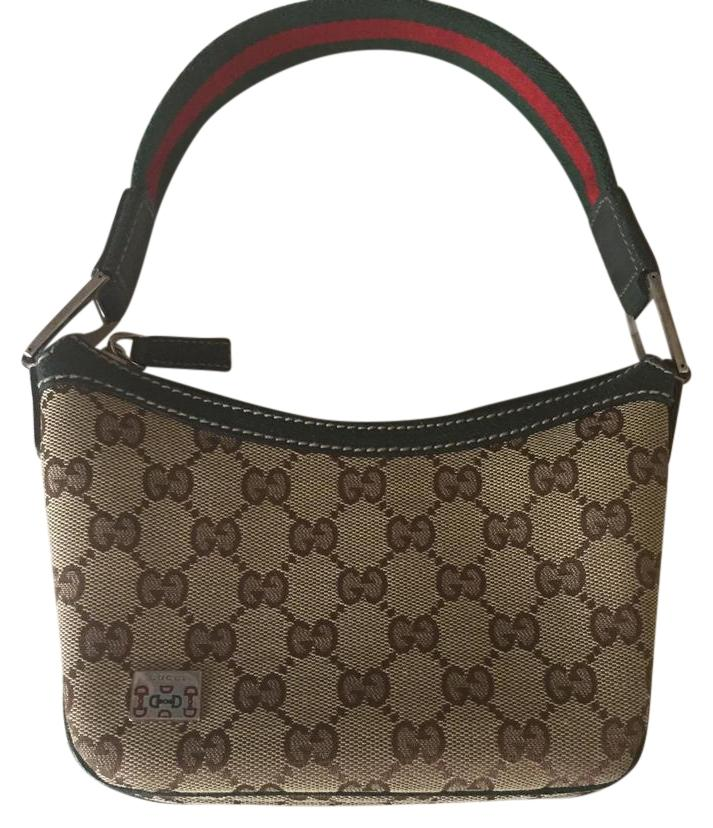 Gucci Logo Canvas And Leather Trim Flap Shoulder Bag kUhPsB