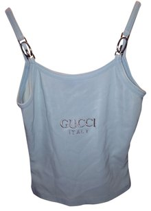 Gucci MINT GUCCI SHIRT WITH SILVER NAME AND METAL LOGO ON BOTTOM OF STRAPS