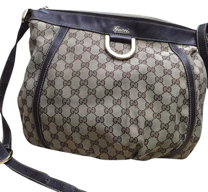 Gucci monogram canvas handbag brown crossbody bag