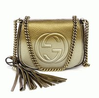 Gucci Monogram Metallic Shoulder Bag