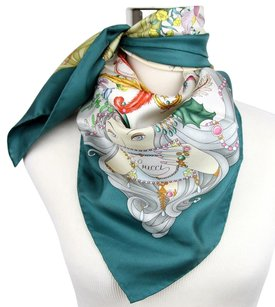 Gucci New Gucci Silk Scarf Four Season Print