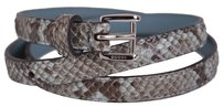 Gucci New Gucci Women's $395 331689 Degrade Python Snakeskin Skinny Belt 32 80