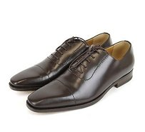 Gucci Mens Leather Lace-up Oxford Brown 206625 2140