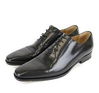 Gucci Mens Leather Lace-up Oxford Black 206625 1000