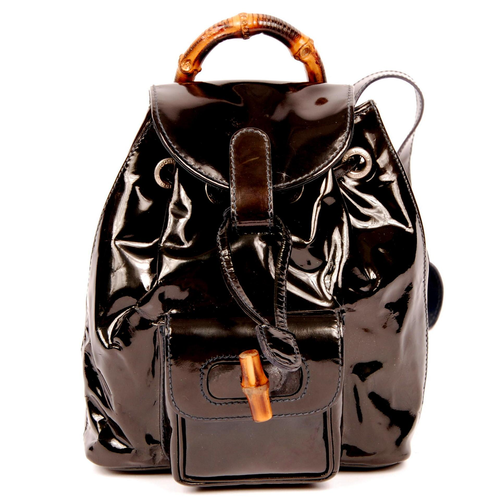 gucci bags backpack. gucci patent leather classic vintage backpack bags r