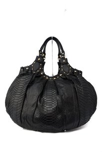 Gucci Python Leather Studded Hobo Bag