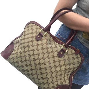 Gucci Satchel in Burgundy Beige