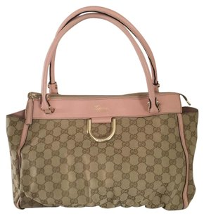Gucci Satchel in Tan / Light pink