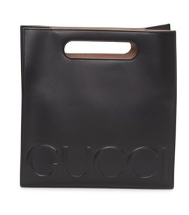 Gucci Shopping Embossed Shopping Linea Tote in Black