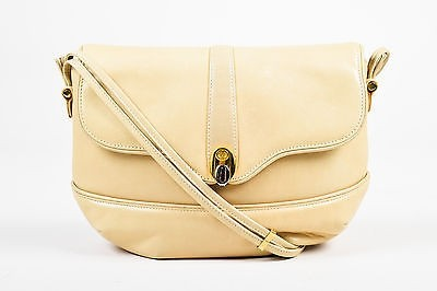 well-wreapped Vintage Gucci Cream Leather Shoulder Bag - www ...